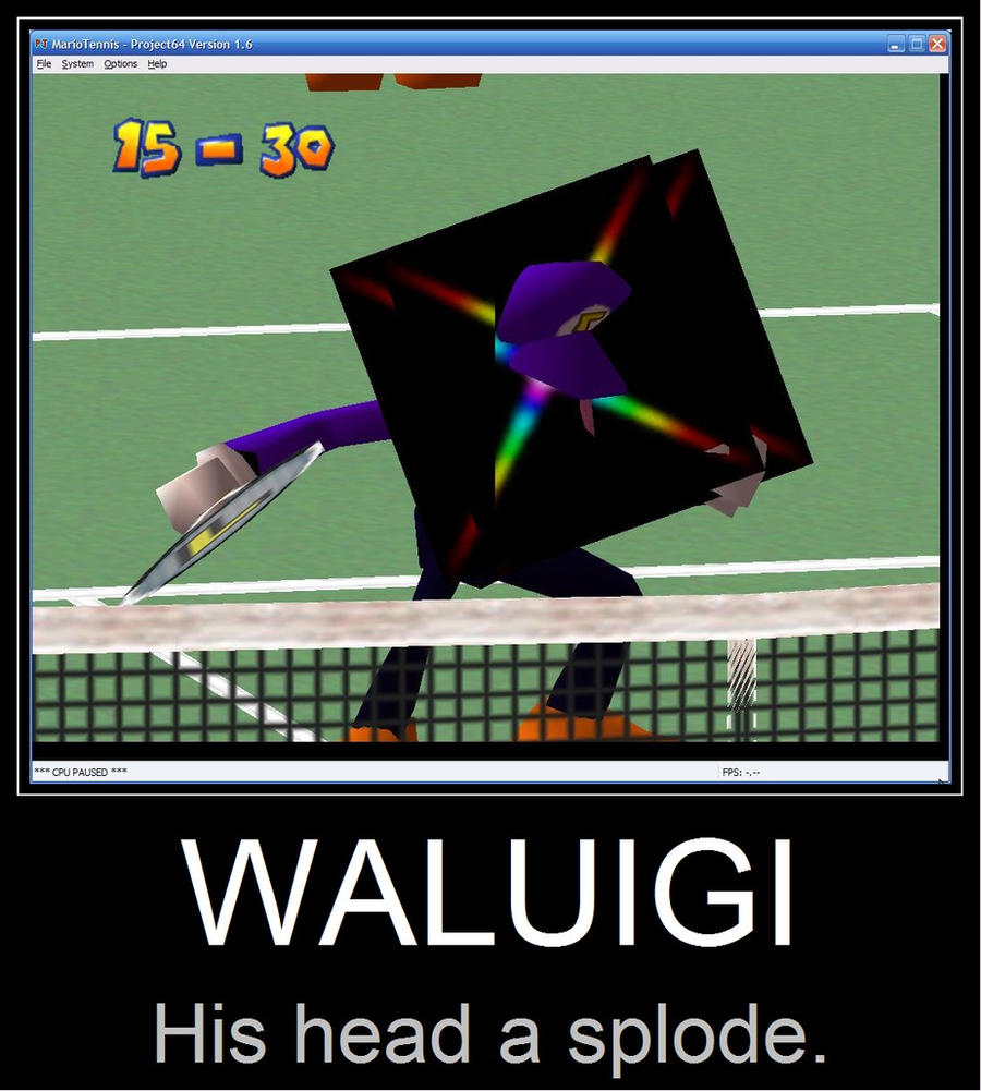 Waluigi's Exploding Head by oddball216 on DeviantArt