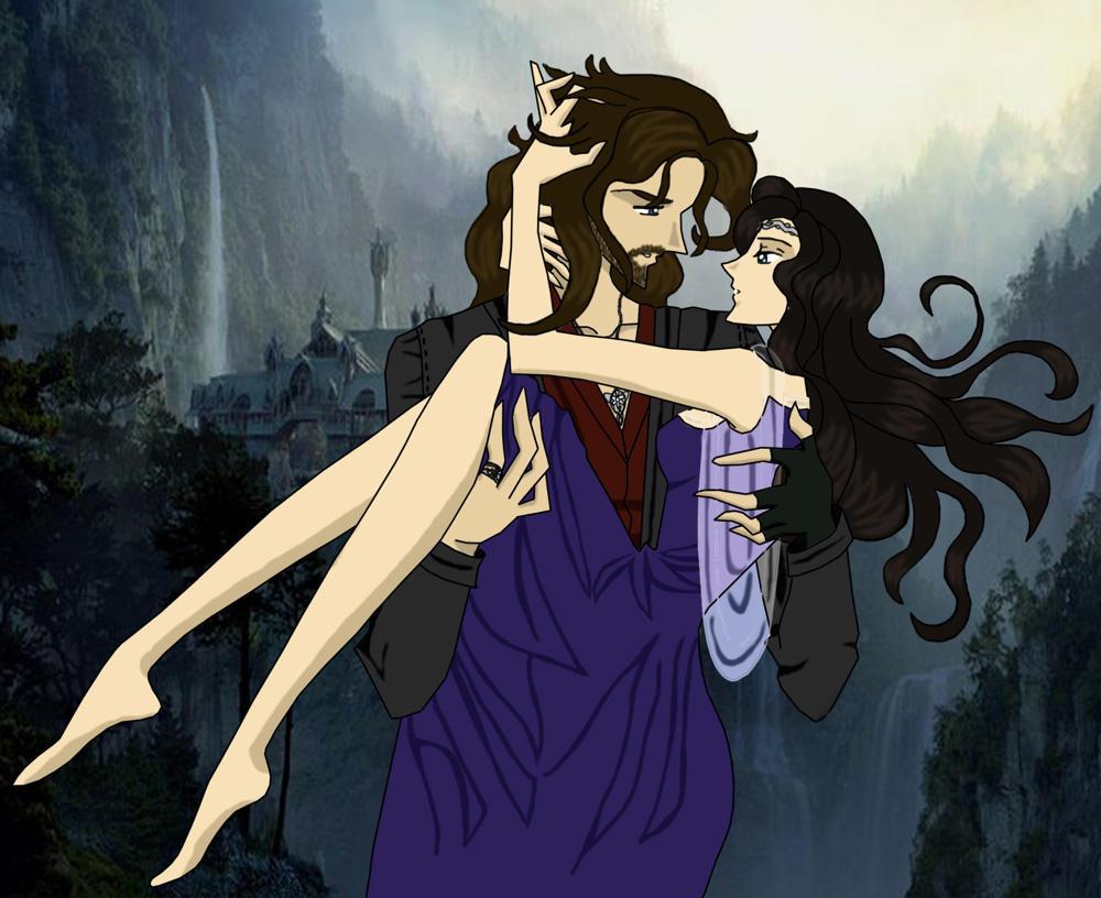 Aragorn and Arwen by AmayaKouryuu