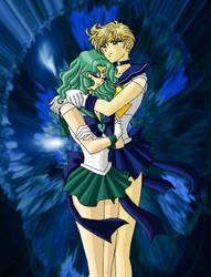 Sailor Uranus and Neptune by AmayaKouryuu