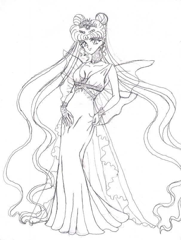princess serenity coloring pages photo11