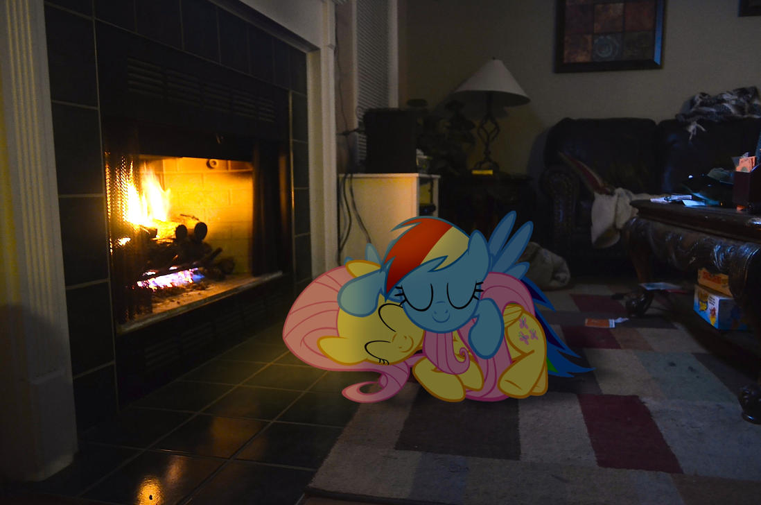 Cuddle By The Fireplace by Oppositebros