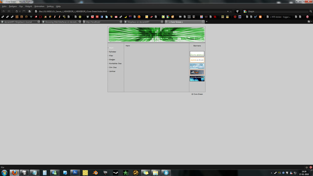 Old websites : Core Green by NinjaSaus