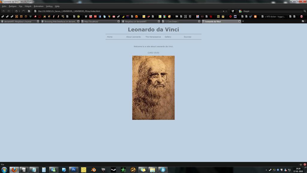 Old websites : Leonardo da Vin by NinjaSaus