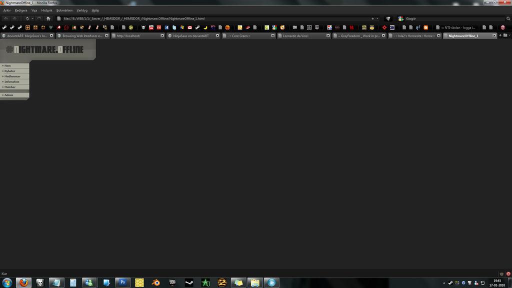 Old websites : Nightmare.Offli by NinjaSaus