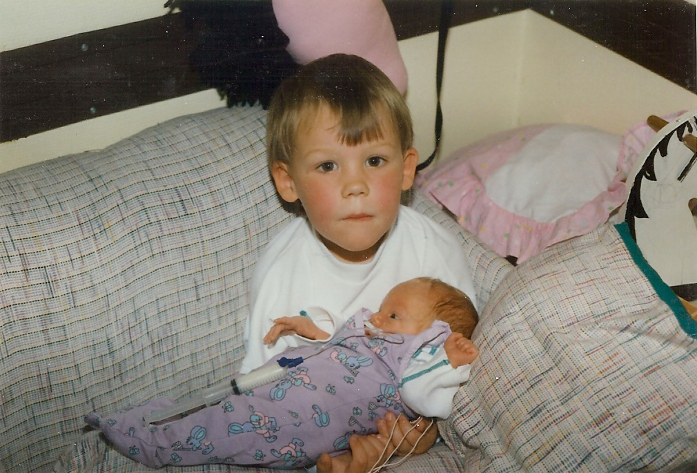 Old Pictures : Me and brother by NinjaSaus