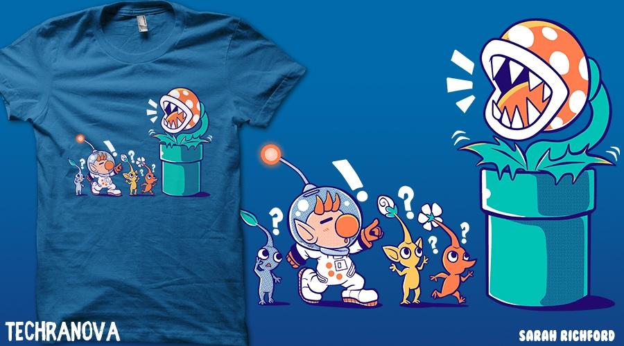 Wrong Planet Pikmin Shirt - Qwertee by TechraNova