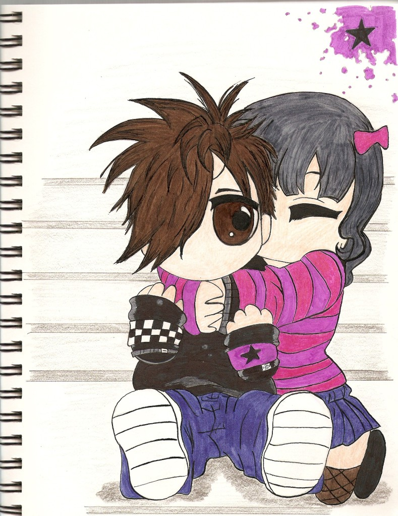 A Cute Couple Drawing :D by FreeSpiritArtist