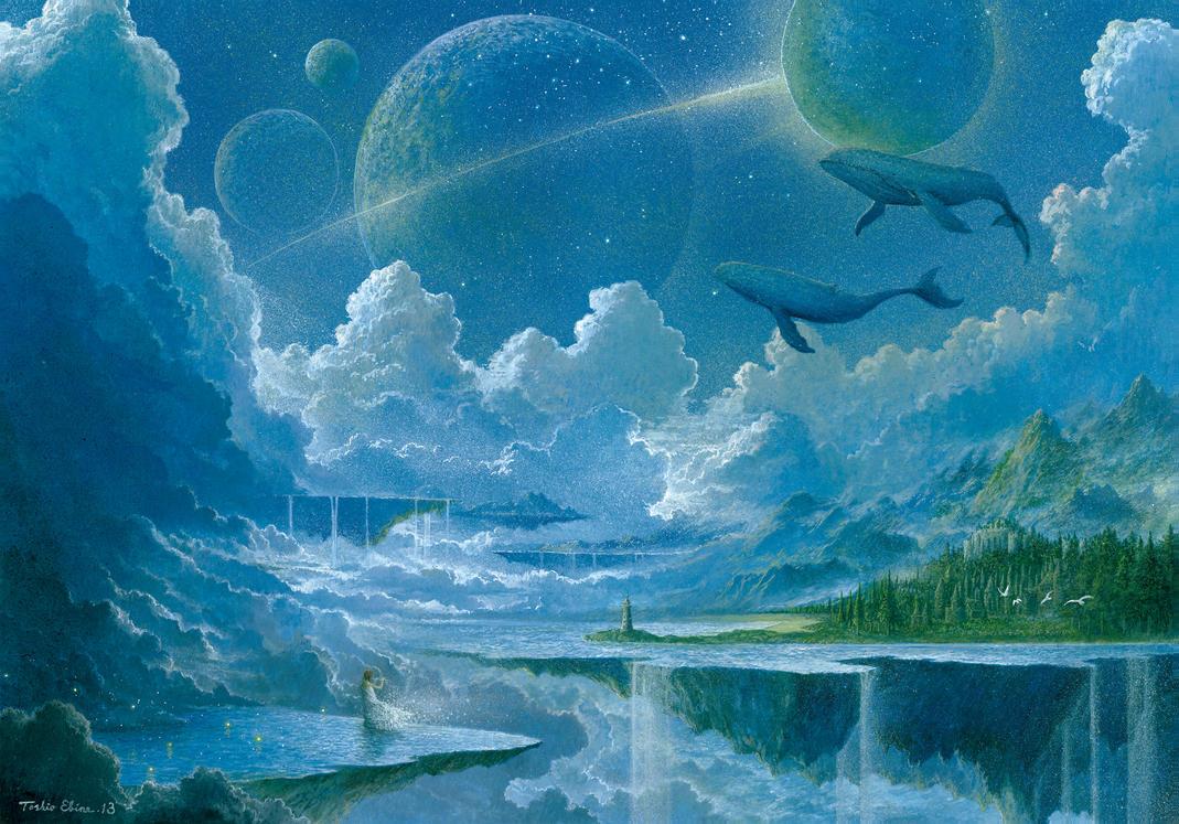 Floating Island by Ebineyland