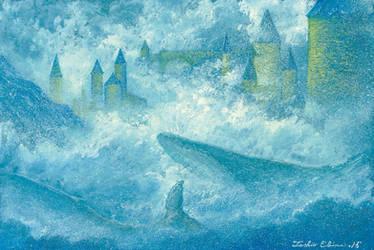 misty whale by Ebineyland