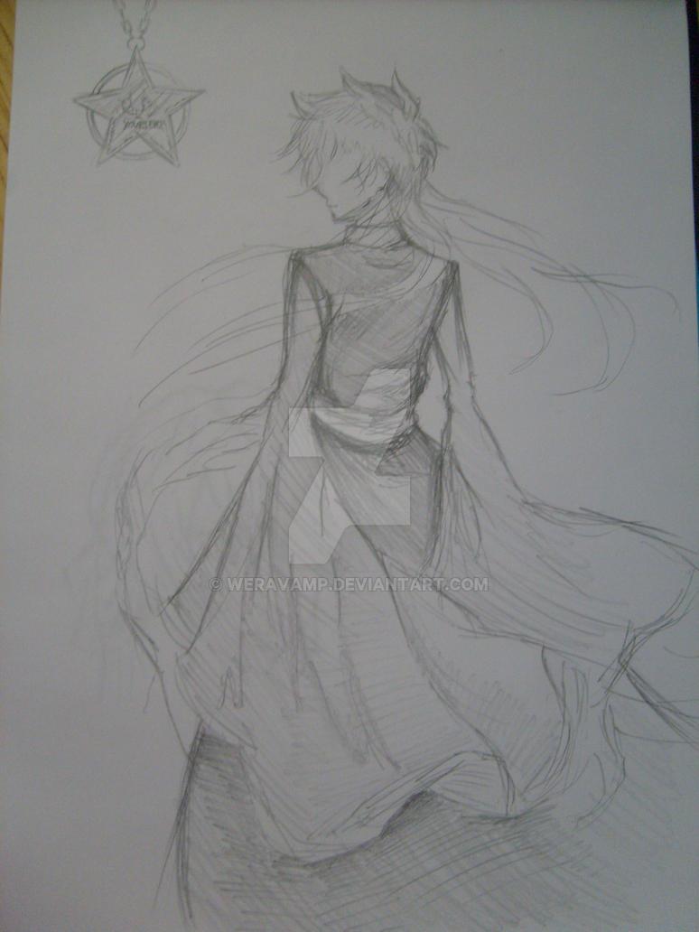 Sketch alone saint seiya by weravamp