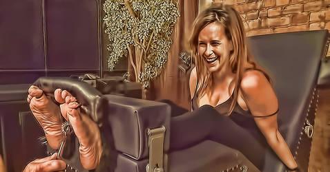 Jennifer Love Hewitt tickling digital style by pepecoco