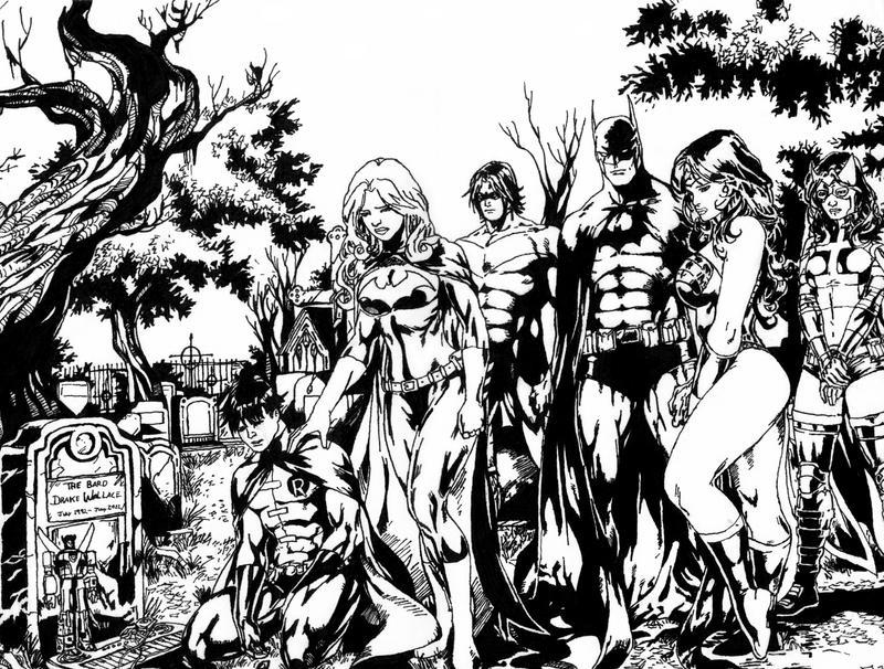 Batman Detailed Inking Finished Version