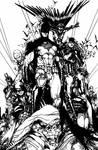 Batman Family - Hand inks