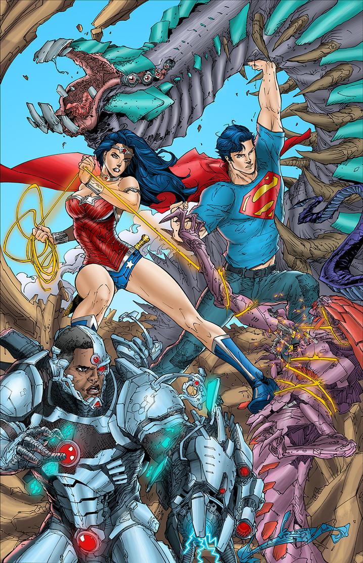 Superman Cover by J-Skipper