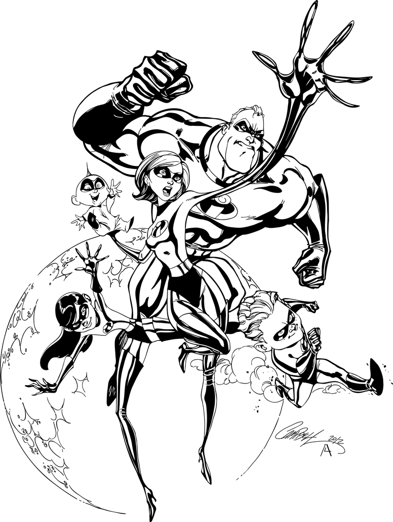 The Incredibles High res Inks by JSkipper on DeviantArt