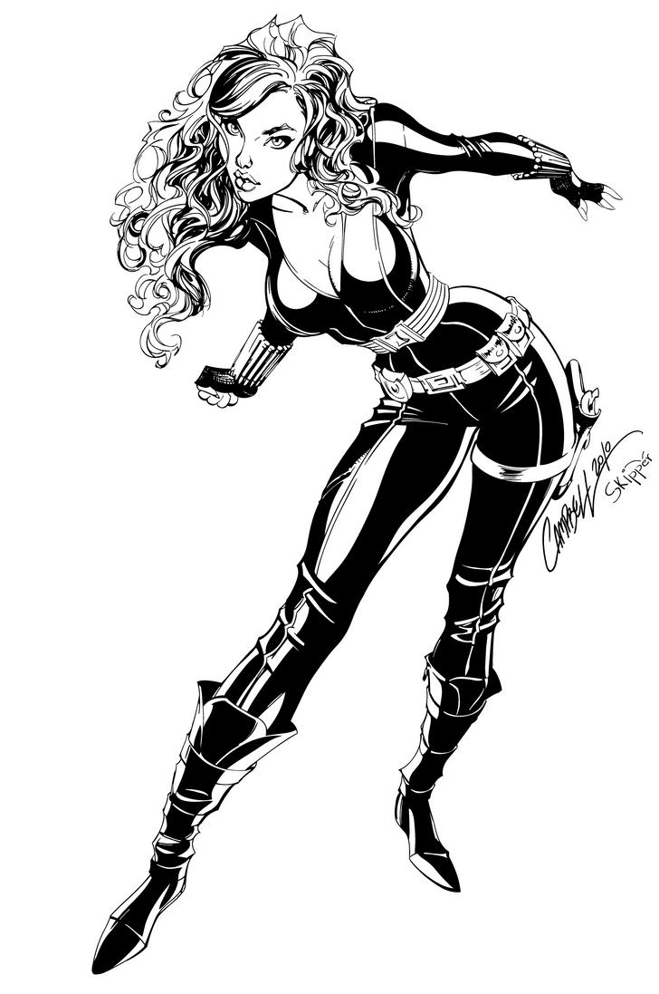 Black Widow - Inks by J-Skipper