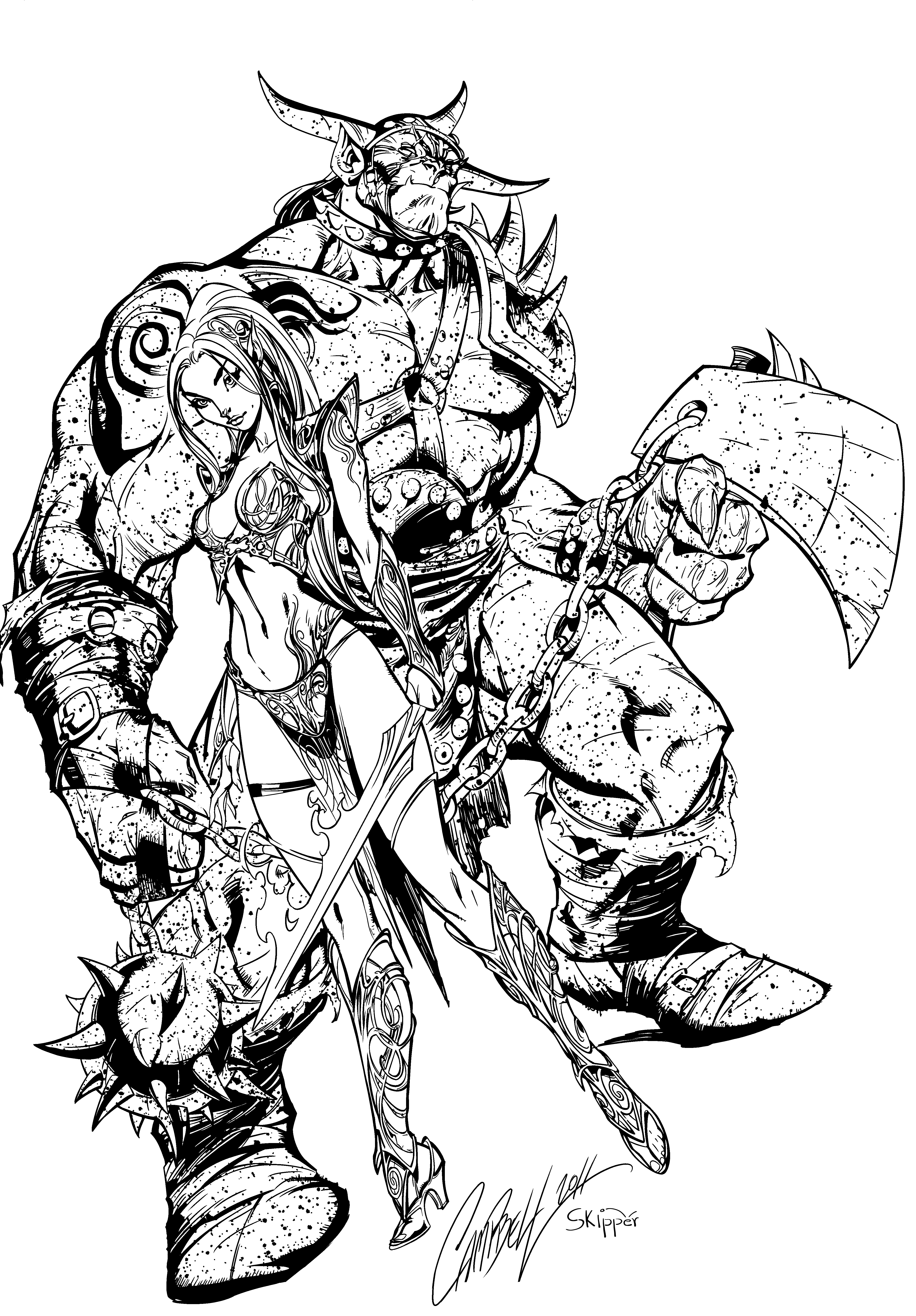 Ares and hades inks by j skipper on deviantart for Hades coloring page