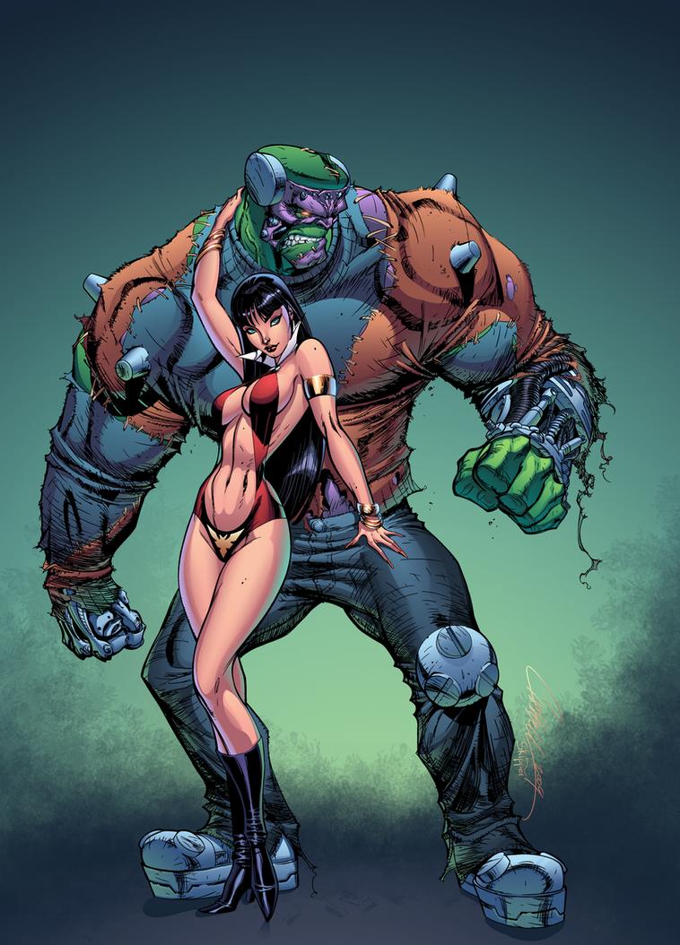 Vampirella And The Beast by J-Skipper