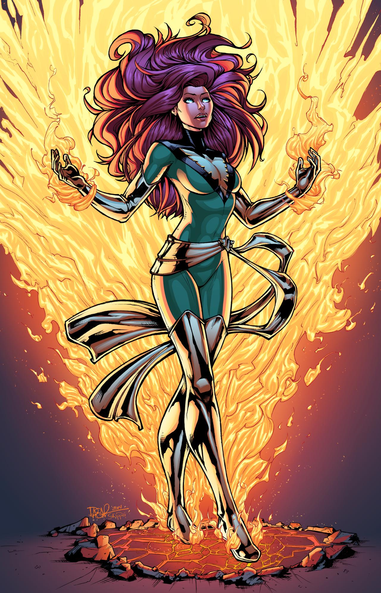 Phoenix rises by j skipper on deviantart - Jean grey phoenix wallpaper ...