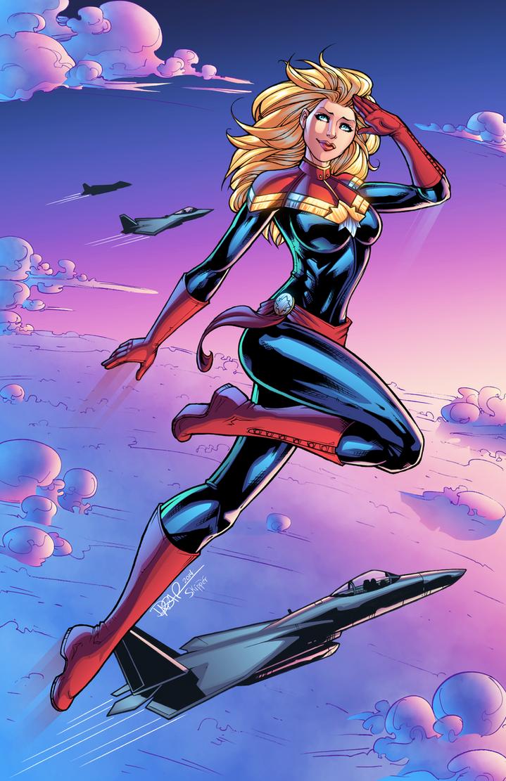 Captain Marvel by J-Skipper