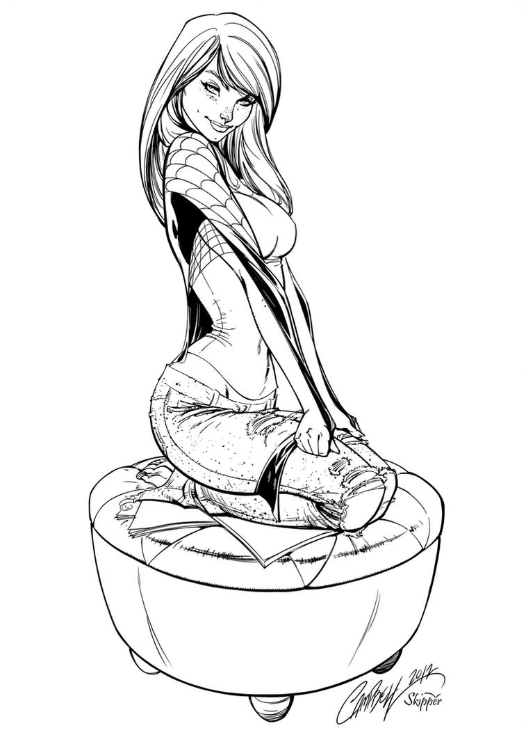 mary jane watson coloring pages - photo#27