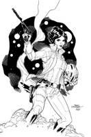 Leia Organa - Inks by J-Skipper