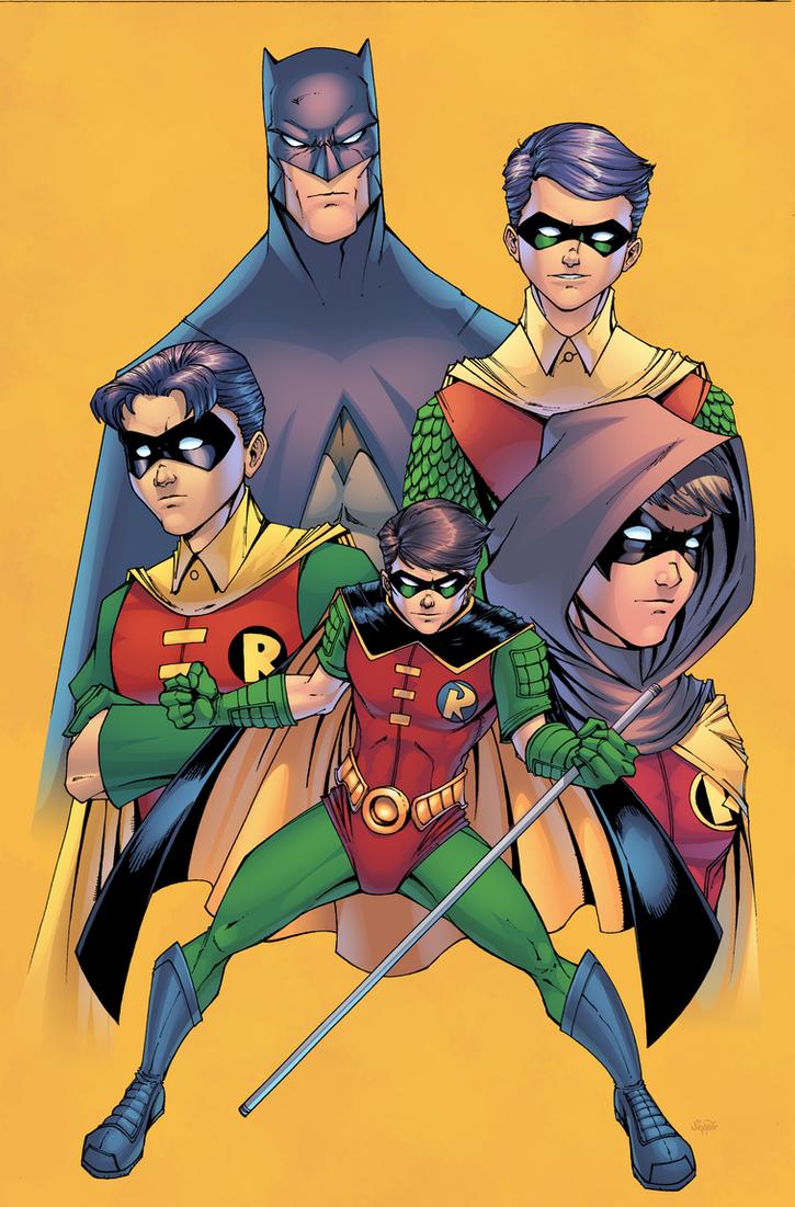 Batman and Robins by J-Skipper