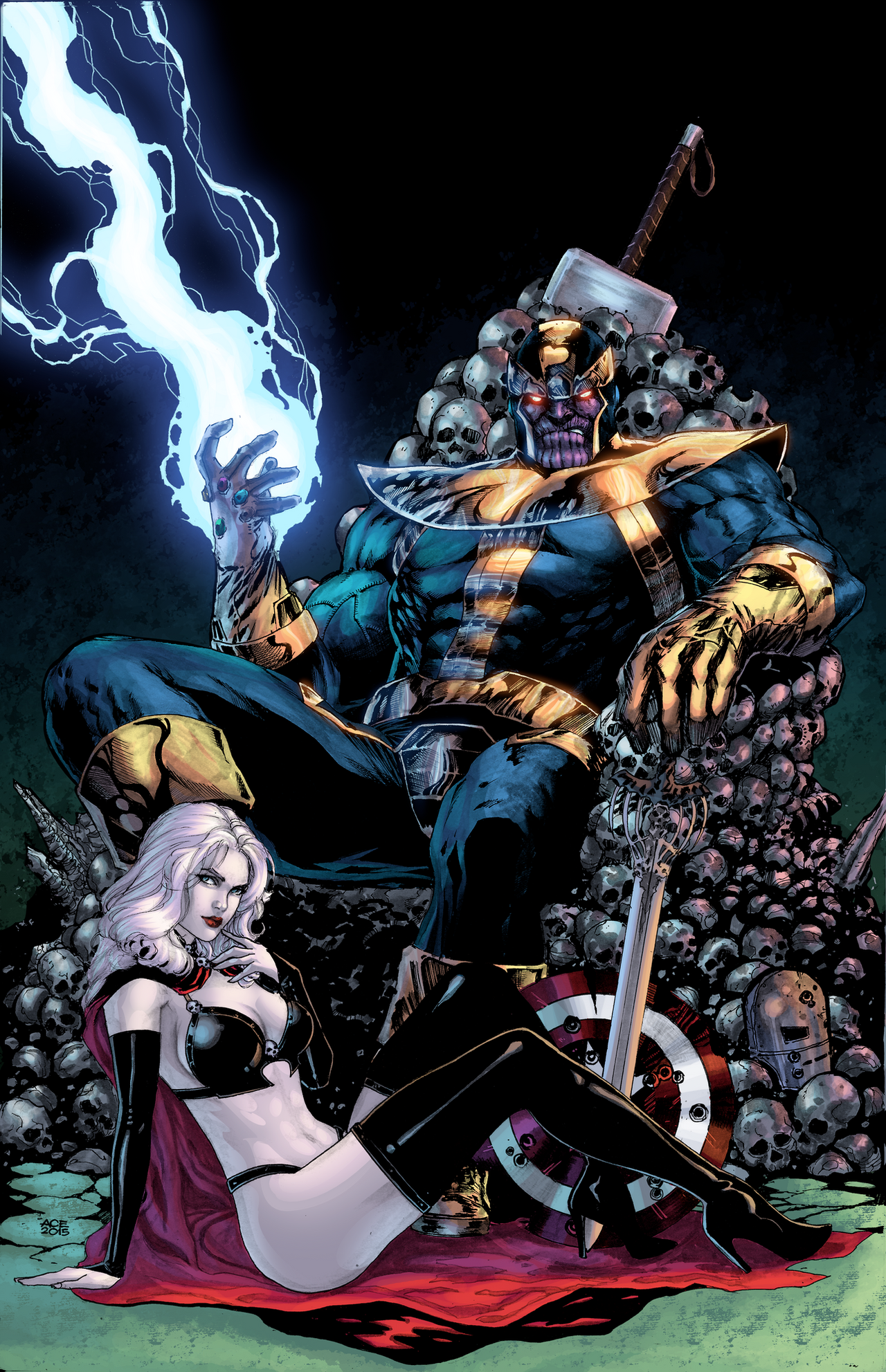 Thanos And Lady Death By J Skipper On Deviantart