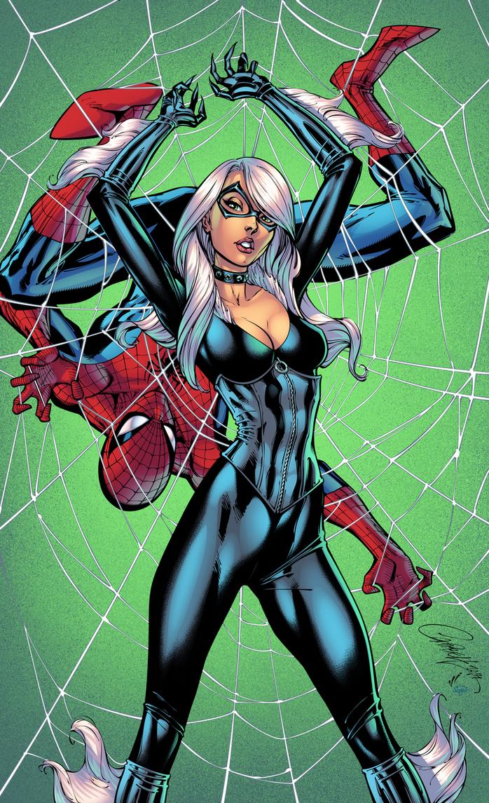 Black Cat and Spiderman by J-Skipper on DeviantArt