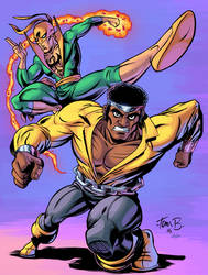 Luke Cage and Ironfist by J-Skipper