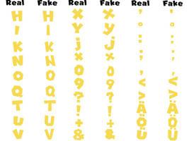 MARIOFontv3 Solid Buatan vs New Super Mario Font U by MatthewThePrep