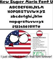 USAball decides to ban New Super Mario Font U by MatthewThePrep