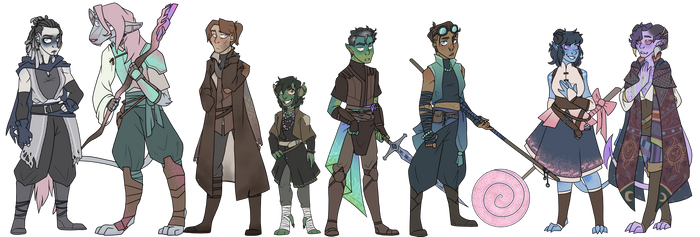 Mighty Nein Redesigns