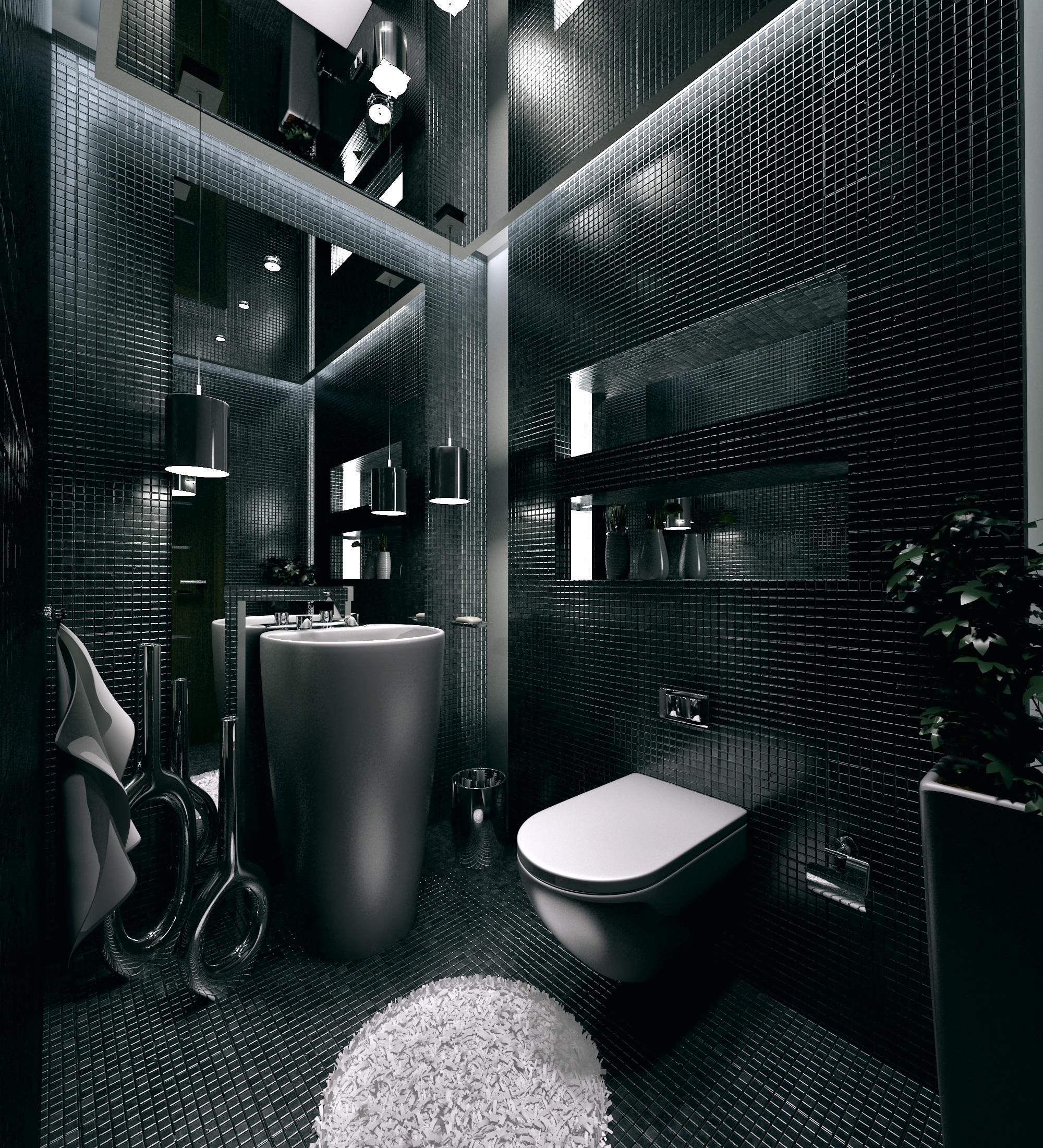 Bathroom by kasrawy on deviantart for Dark bathroom designs