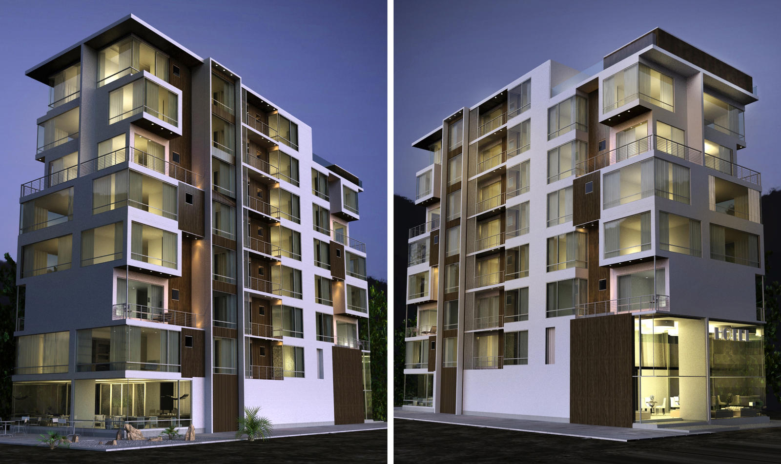 Apartment building by kasrawy on deviantart for Modern residential building design