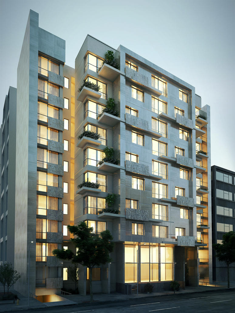 Apartment building final by kasrawy on deviantart for Residential apartment plan