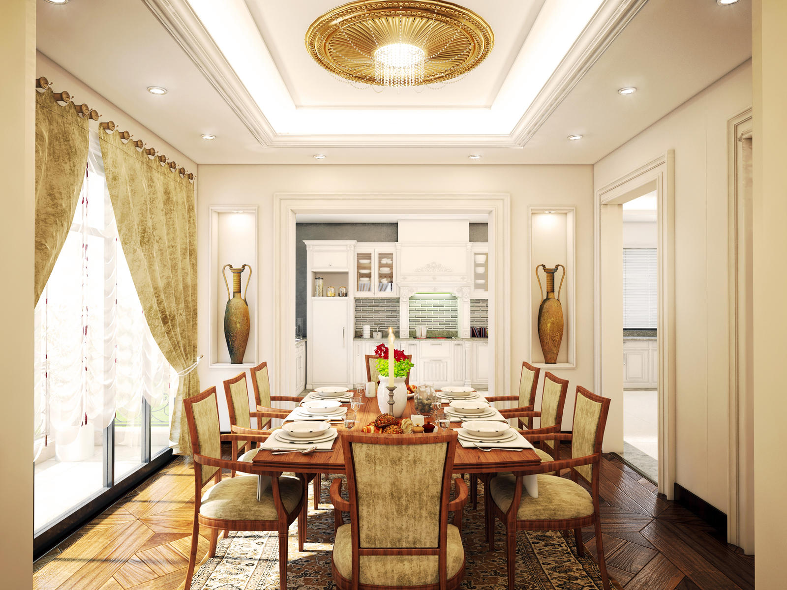 Classic Dining Room By Kasrawy On DeviantArt