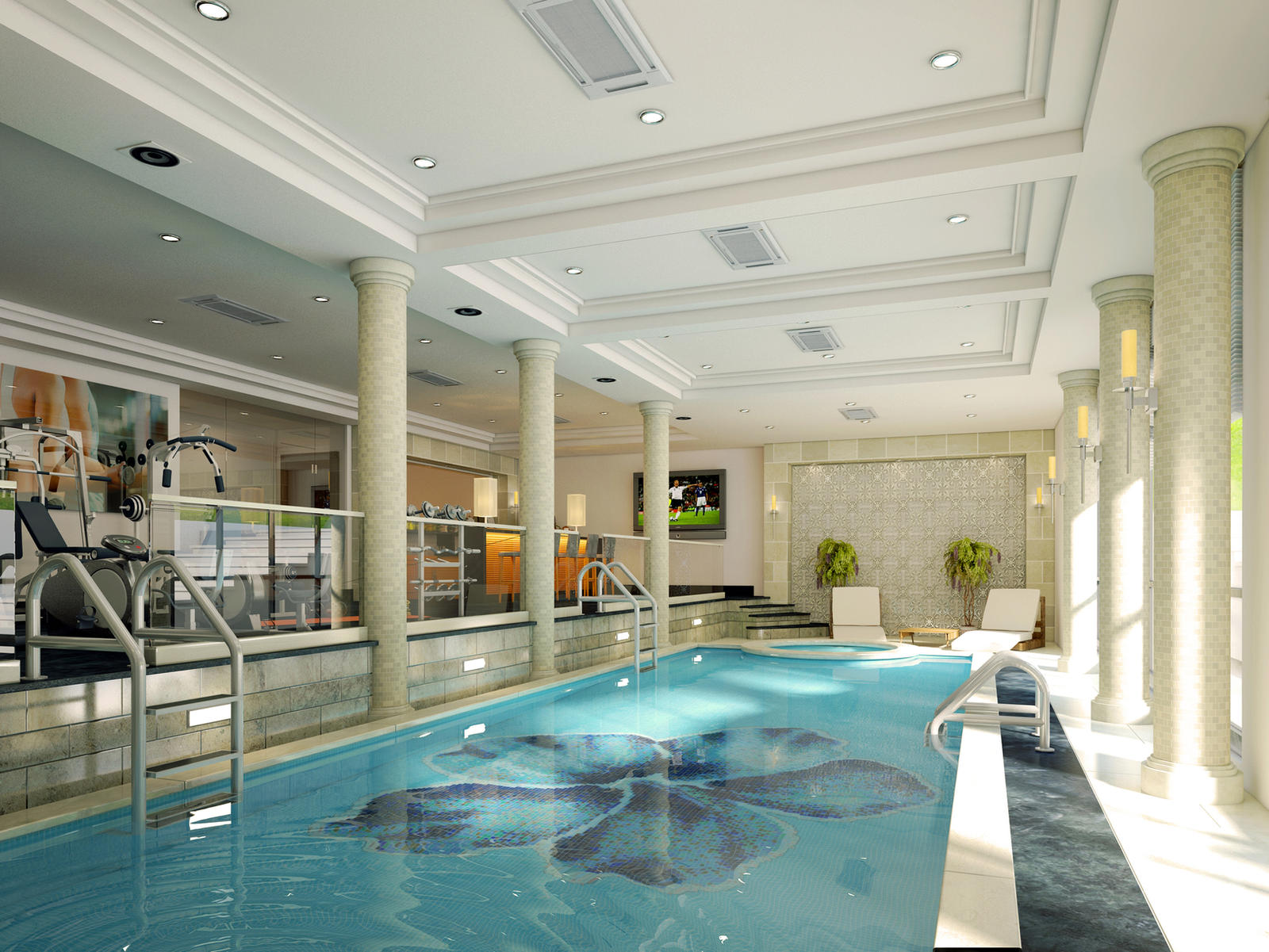 pool in basement