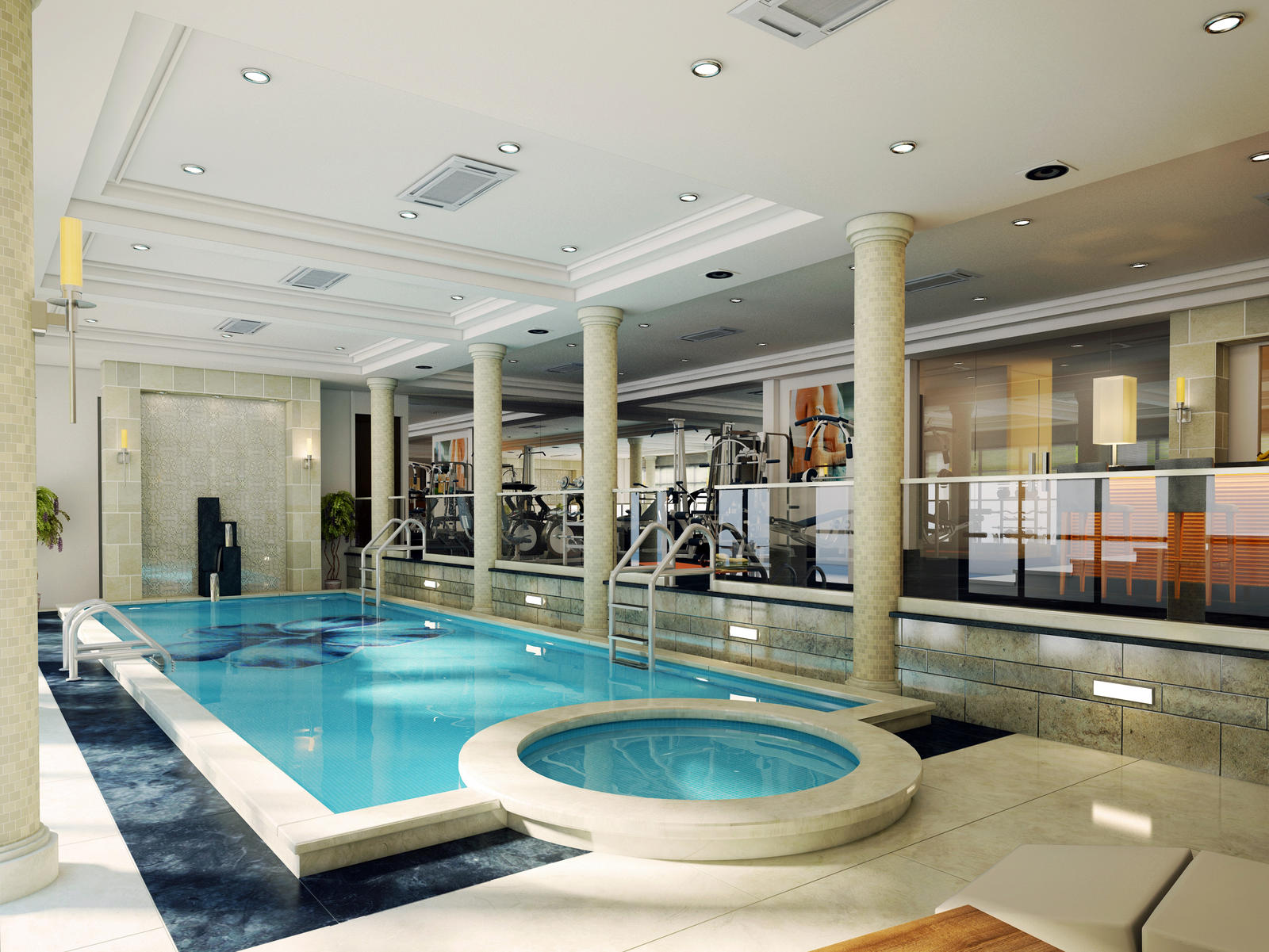 Basement pool 2 by kasrawy on deviantart for Basement swimming pool ideas