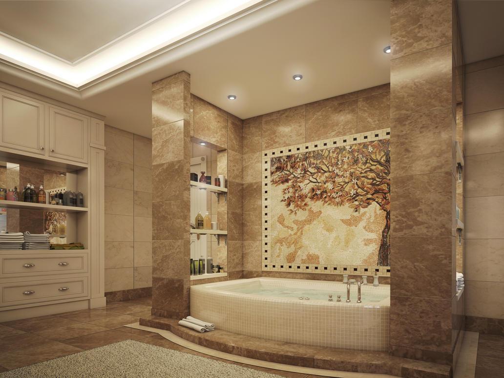 Master bathroom by kasrawy on deviantart for The art of bathrooms
