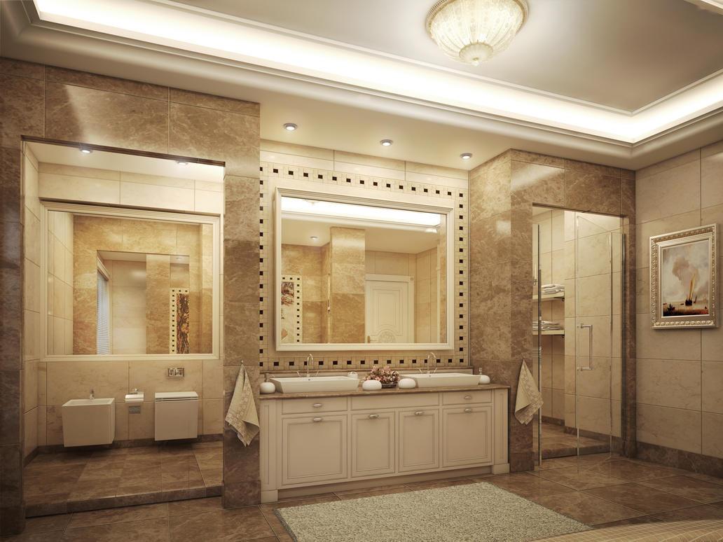 Master bathroom 2 by kasrawy on deviantart for Two bathroom