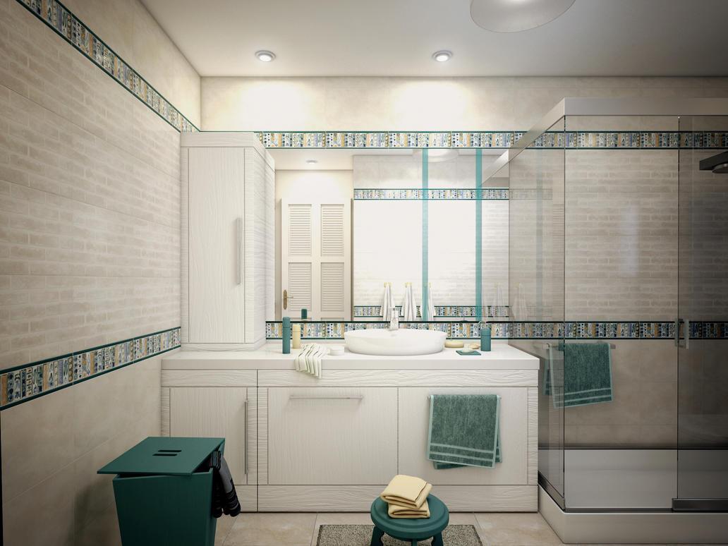 Teen girl bathroom 2 by kasrawy on deviantart for Teenagers bathroom designs