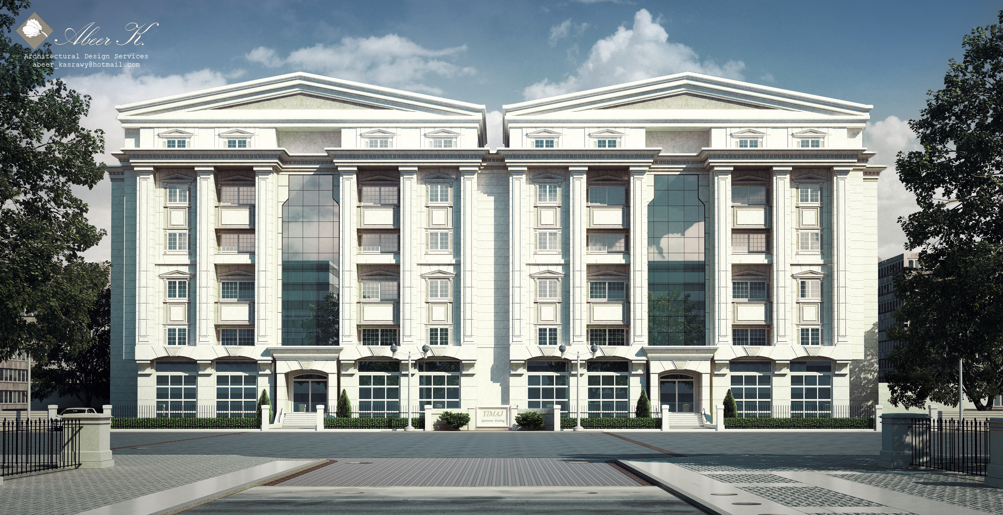 Classic apartment building by kasrawy on deviantart for Modern classic building design