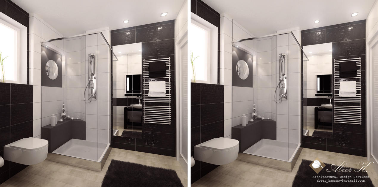 Modern Apartment Guest Bath By Kasrawy On Deviantart