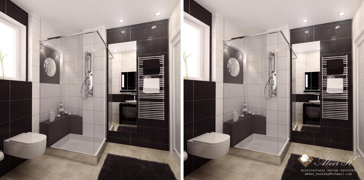 Modern Apartment Guest Bath By Kasrawy On Deviantart