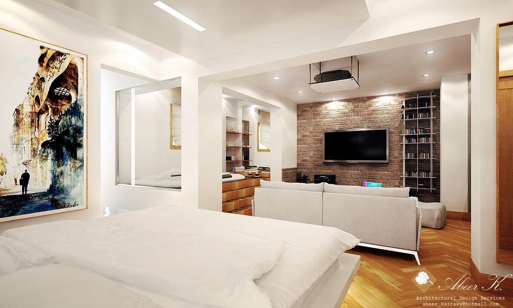 Modern Apartment Master Bedroom By Kasrawy On DeviantArt