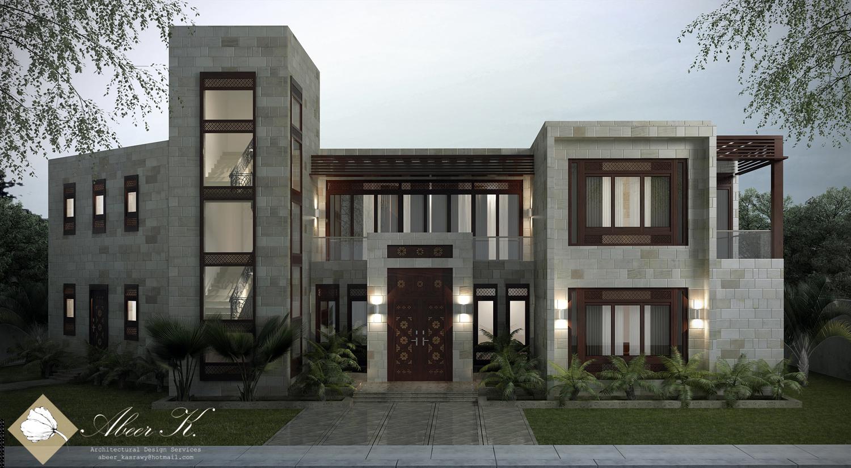 Neo islamic villa main entrance by kasrawy on deviantart for Islamic home designs