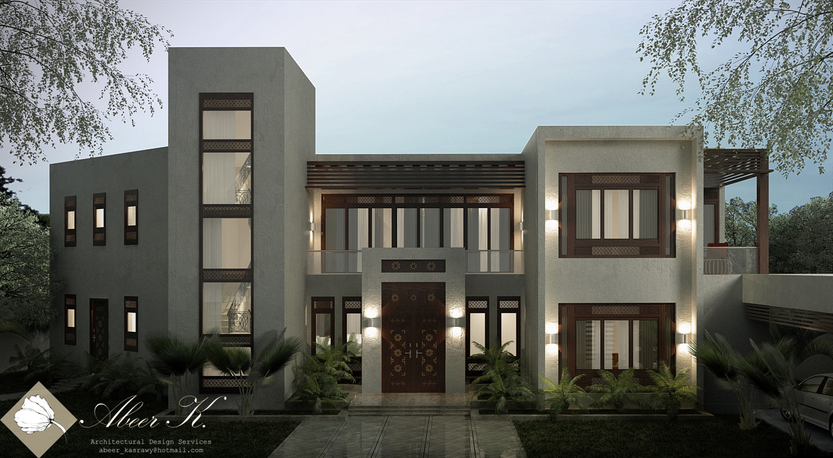 Neo islamic villa main entrance final by kasrawy on deviantart for Villa entrance door designs