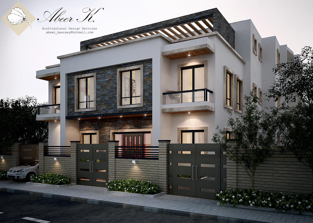 New cairo 39 s villa exterior by kasrawy on deviantart for House front model design