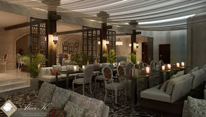 Lebanese Cafe - interior by kasrawy